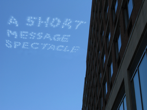 A Short Message Spectacle