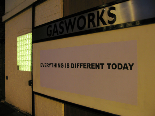 Gasworks Billboard - Tim Etchells