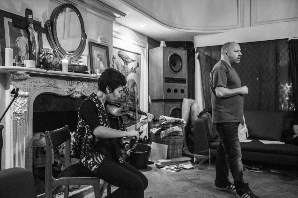 Seeping Through EP Launch - Tim Etchells and Aisha Orazbayeva - Performance 2015 - Image Credit Hugo Glendinning 002