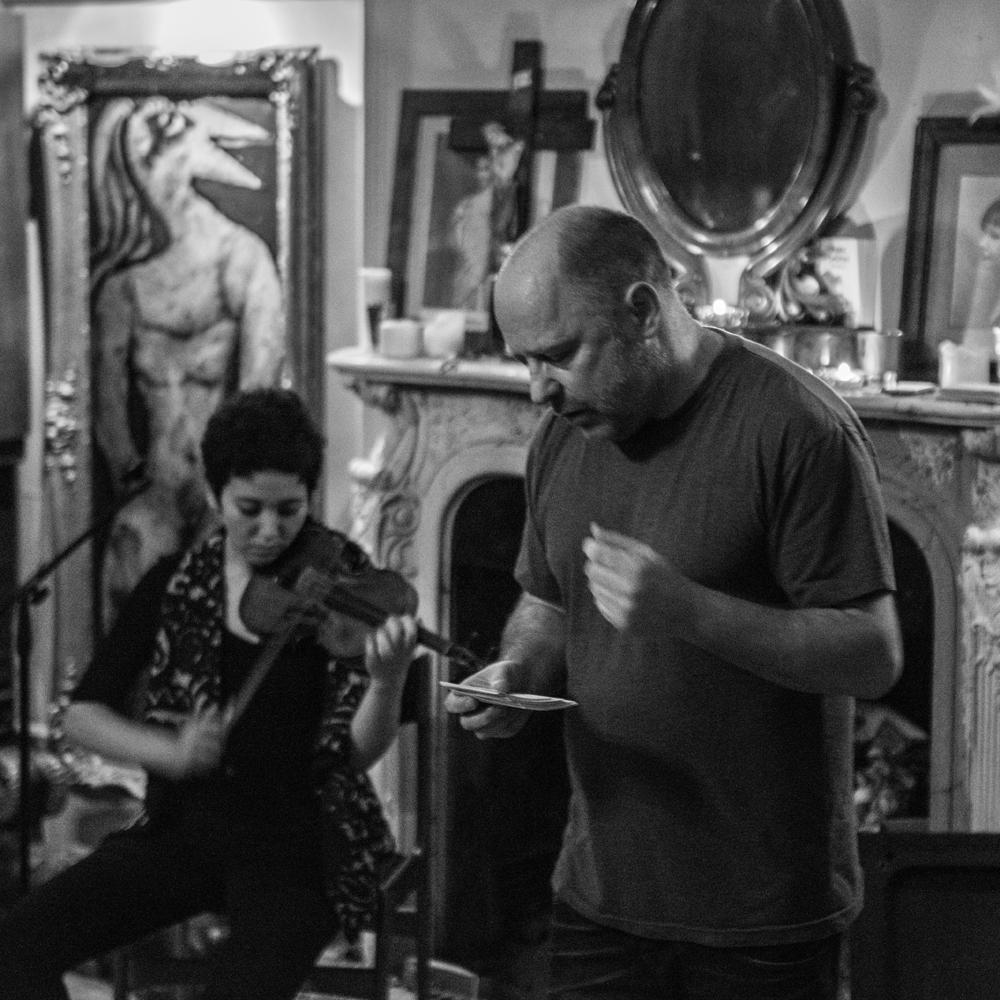 Seeping-Through-EP-Launch---Tim-Etchells-and-Aisha-Orazbayeva---Performance-2015---Image-Credit-Hugo-Glendinning-72dpi-005