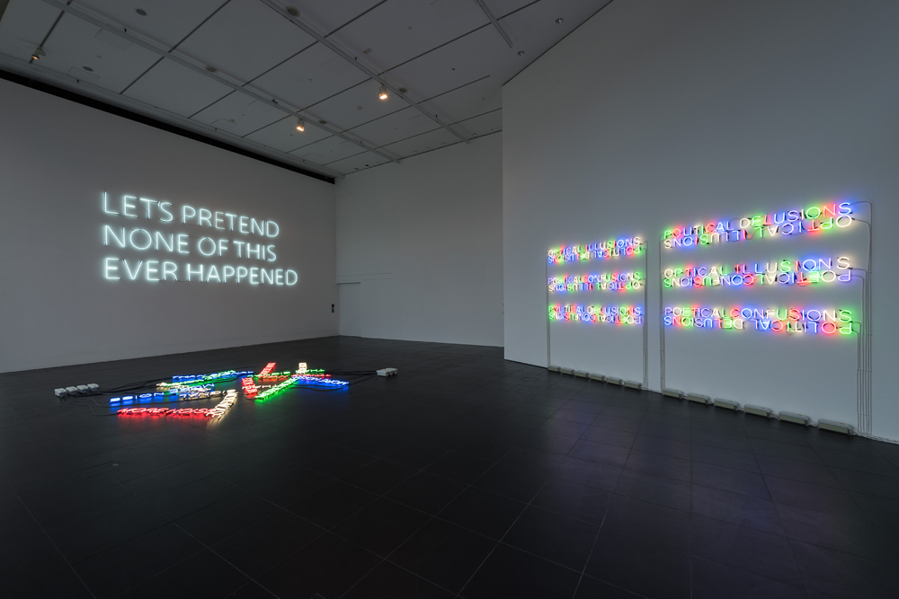 More-Noise-(2016)-&-Let's-Pretend-(Large)-(2014)-&-Mirror-Pieces-(2014)---Neon---Installation-View-Bloomberg-Space-Jan-Mar-2016----Tim-Etchells---Photo-Hugo-Glendinning-72dpi-004