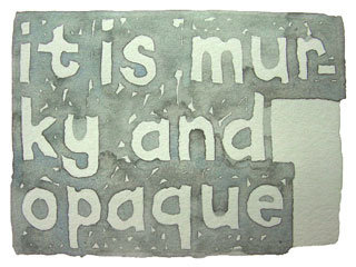 1001 Nights - It Is Murky And Opaque