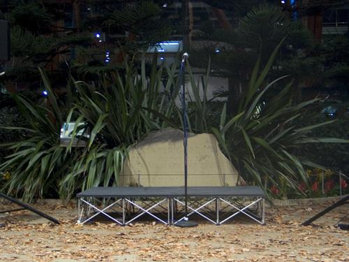 Empty Stage - Winter Garden